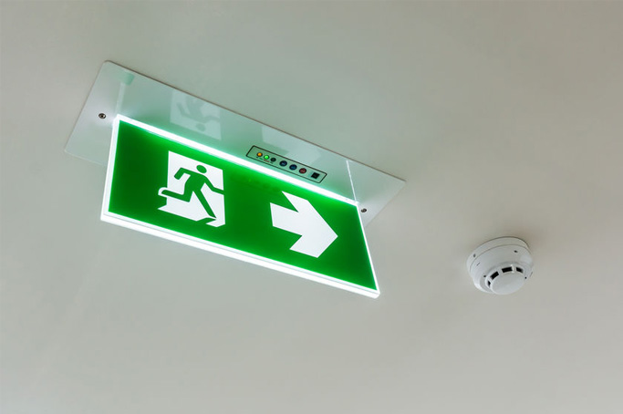 Emergency lighting and smoke alarms